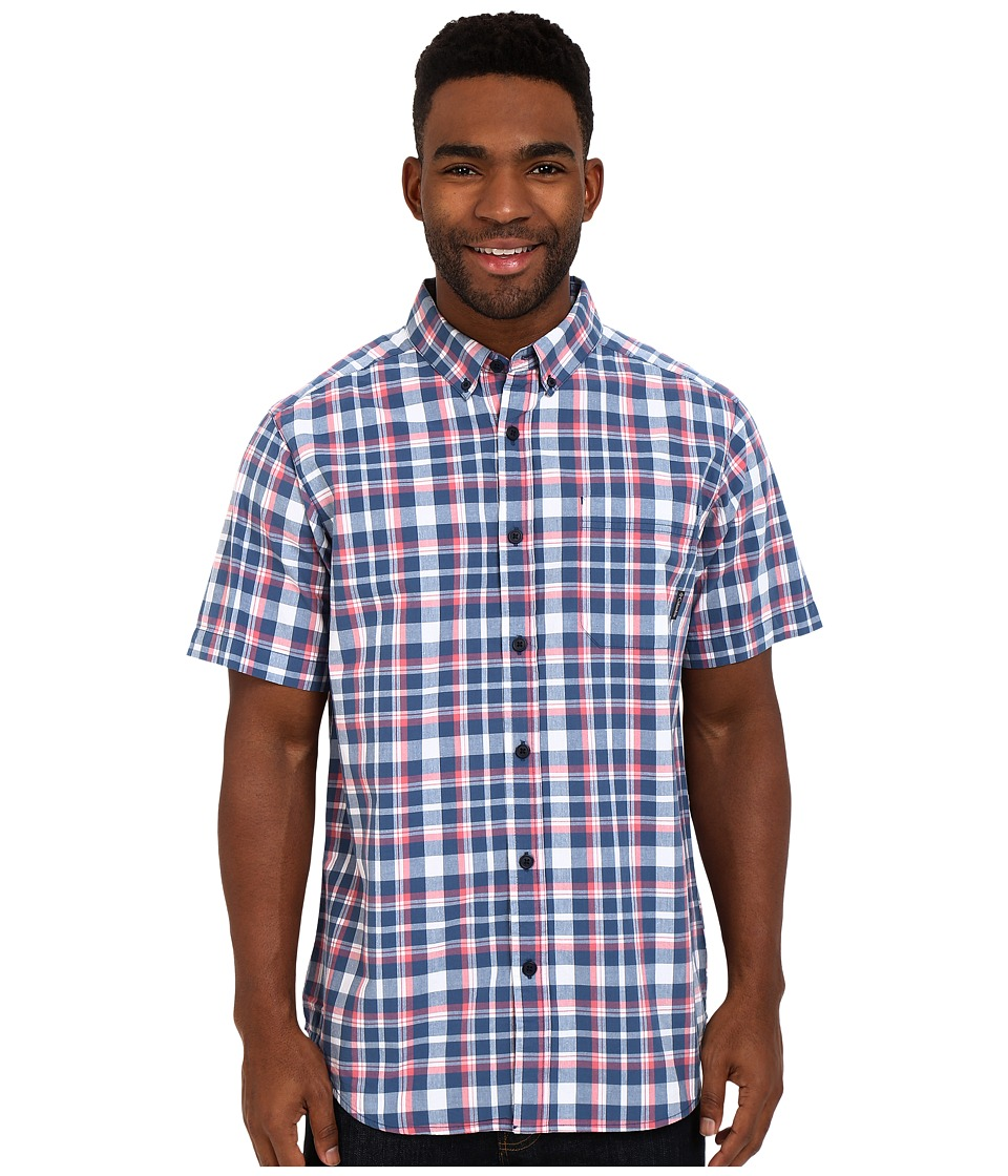 Columbia - Rapid Rivers II Short Sleeve Shirt (Night Tide Plaid) Men's Short Sleeve Button Up