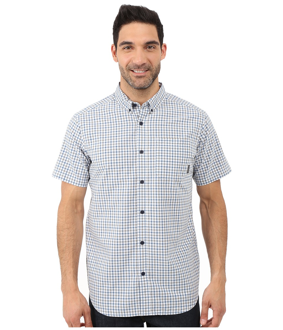 Columbia - Rapid Rivers II Short Sleeve Shirt (Steel Plaid) Men's Short Sleeve Button Up