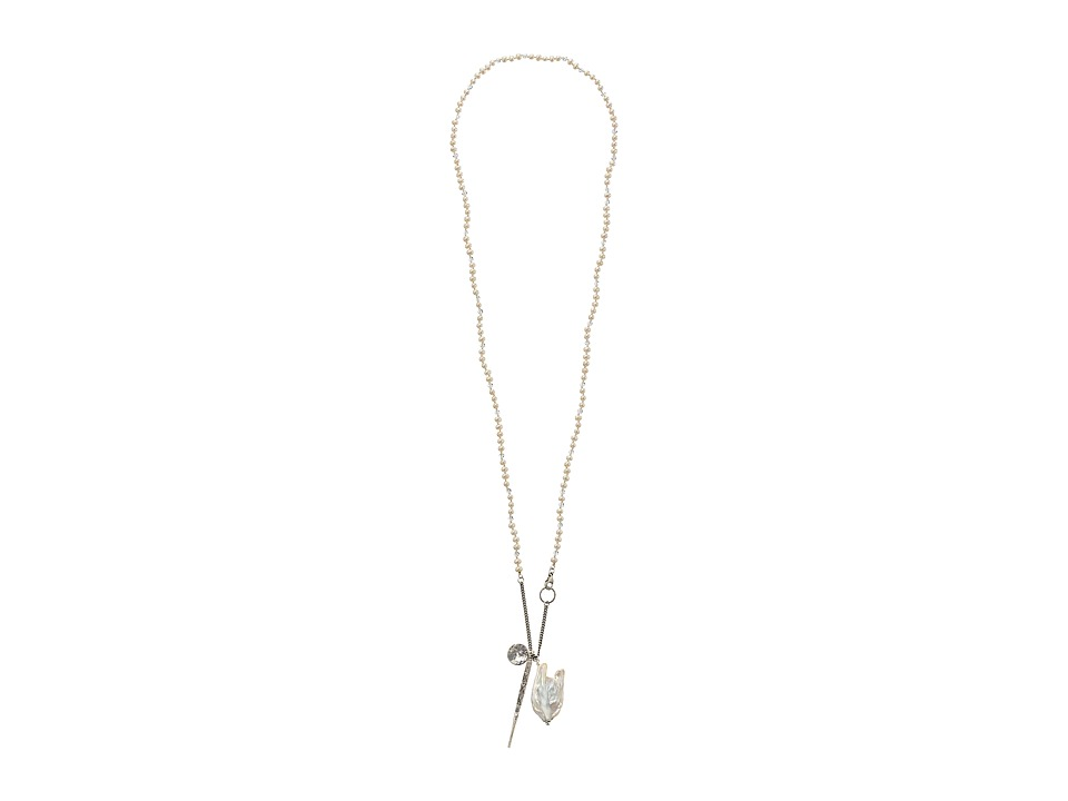 Chan Luu - 39' Fresh Water Pearl White Dagger Necklace (White Pearl) Necklace