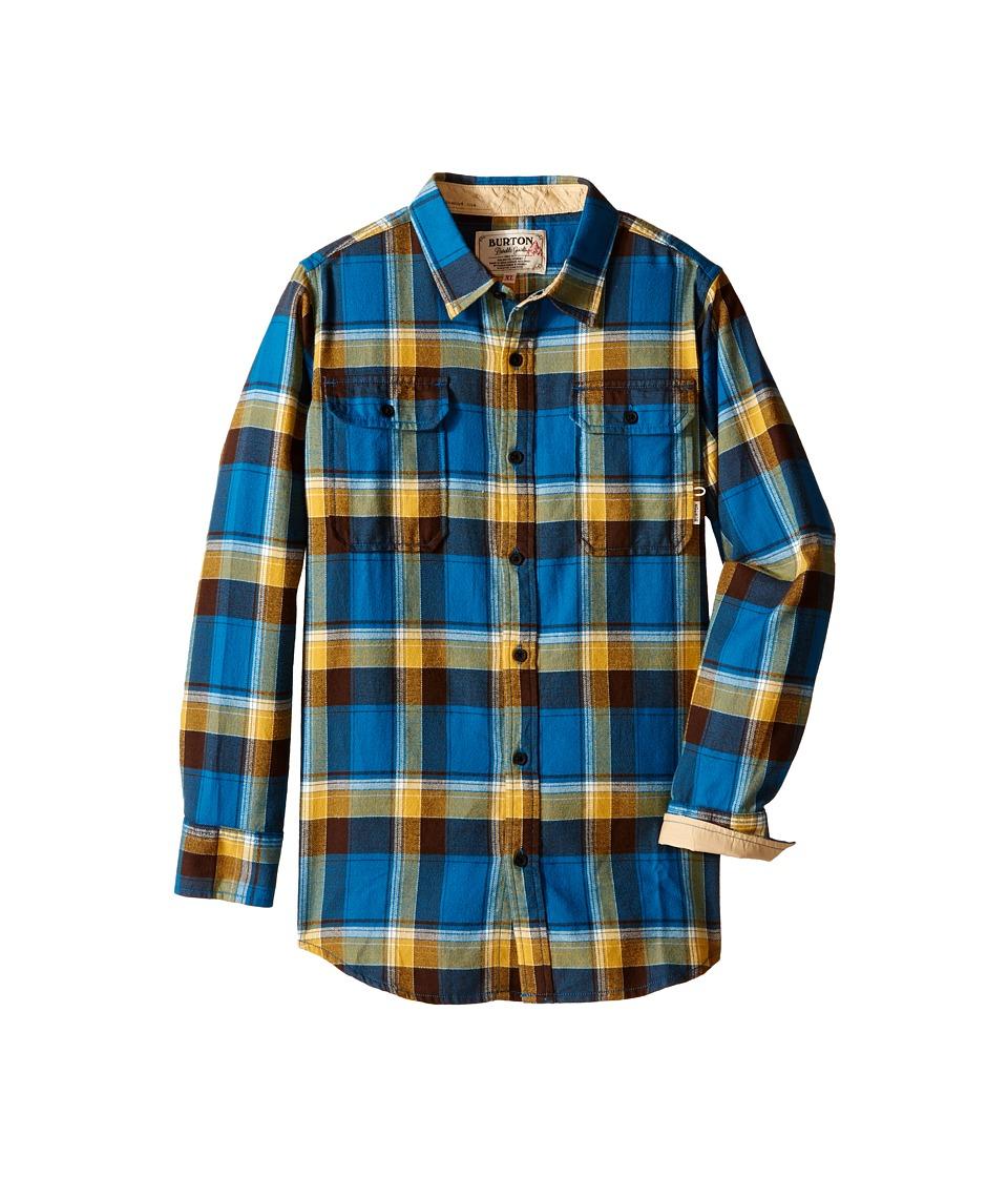 Burton Kids - Brighton Flannel (Little Kids/Big Kids) (Glacier Blue Impulse) Boy's Long Sleeve Button Up