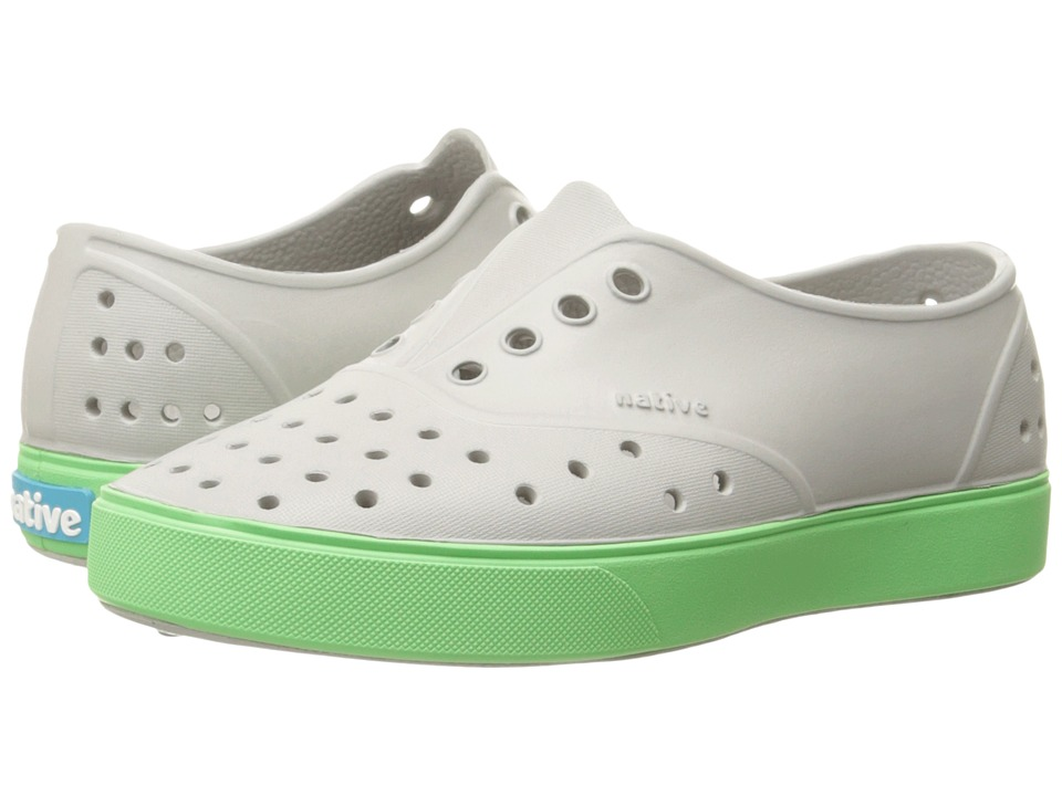 Native Kids Shoes - Miller (Toddler/Little Kid) (Pigeon Grey/Mescal Green) Kid's Shoes