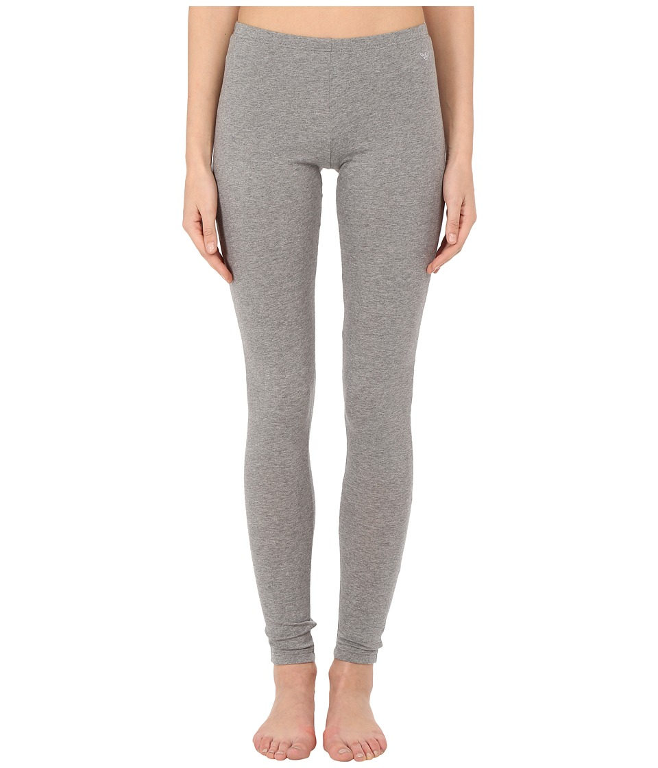 Emporio Armani - Jewel Studded Cotton Stretch Leggings (Dark Grey Melange) Women