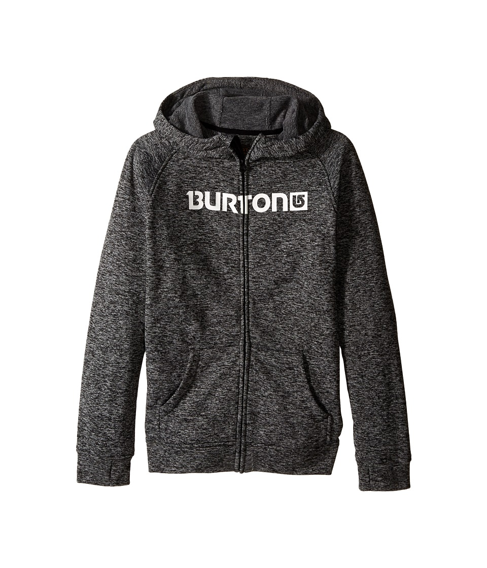 Burton Kids - Oak Full Zip Hoodie (Little Kids/Big Kids) (True Black Heather) Boy's Sweatshirt
