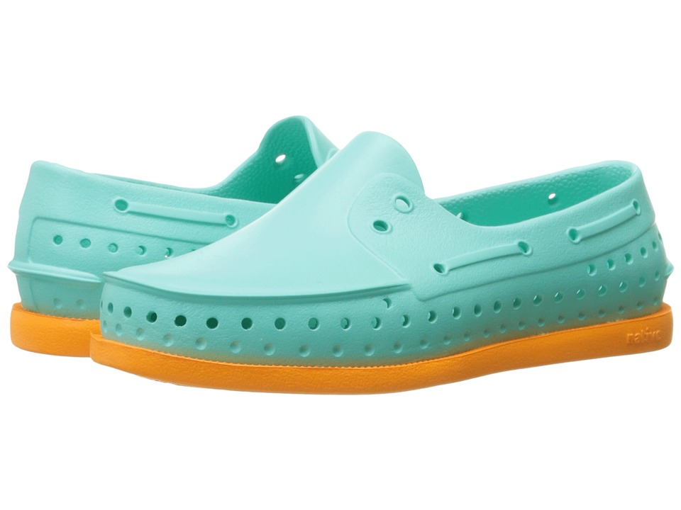 Native Kids Shoes - Howard (Toddler/Little Kid) (Atlantis Blue/Begonia Orange) Kid's Shoes