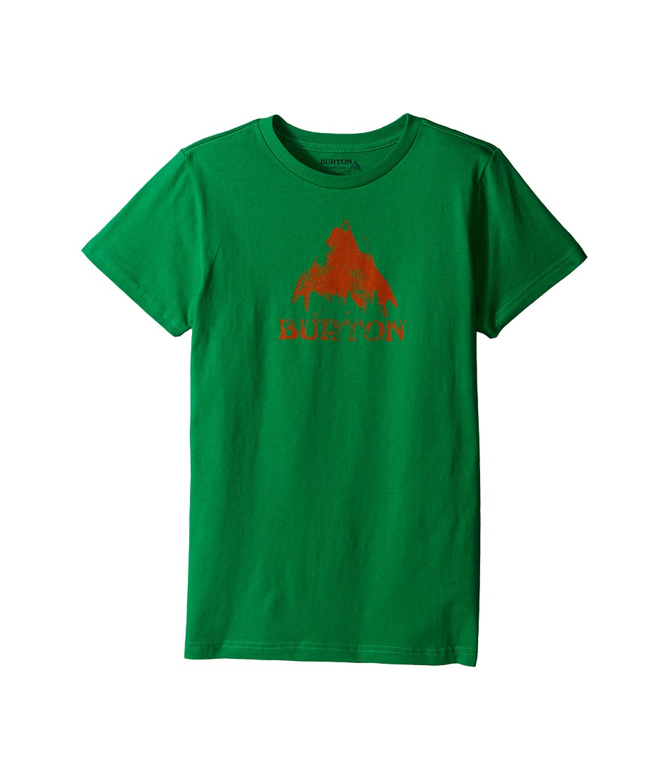 Burton Kids - Stamped Mountain Short Sleeve Tee (Big Kids) (Kelly Green) Boy's Short Sleeve Pullover