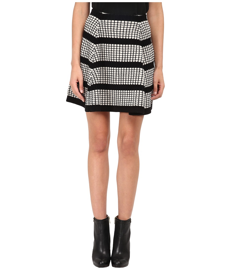 McQ - 3D Stitch Flirty Skirt (Off White/Black) Women's Skirt