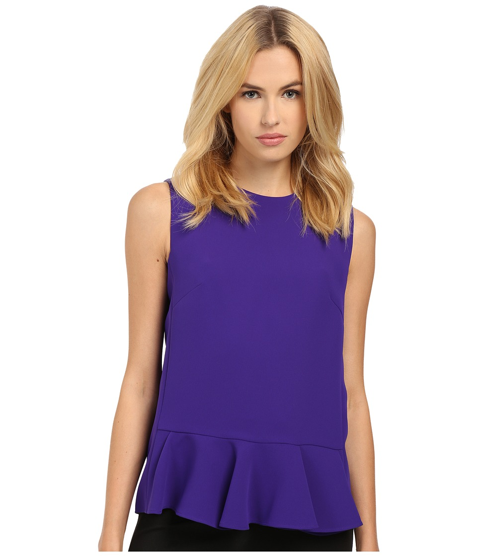 McQ - Peplum Top (Deep Violet) Women's Blouse