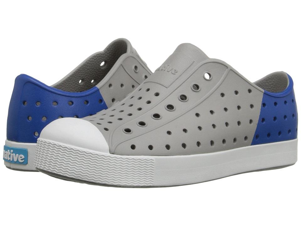 Native Kids Shoes - Jefferson (Little Kid) (Pigeon Grey/Victoria Blue Block) Kid's Shoes
