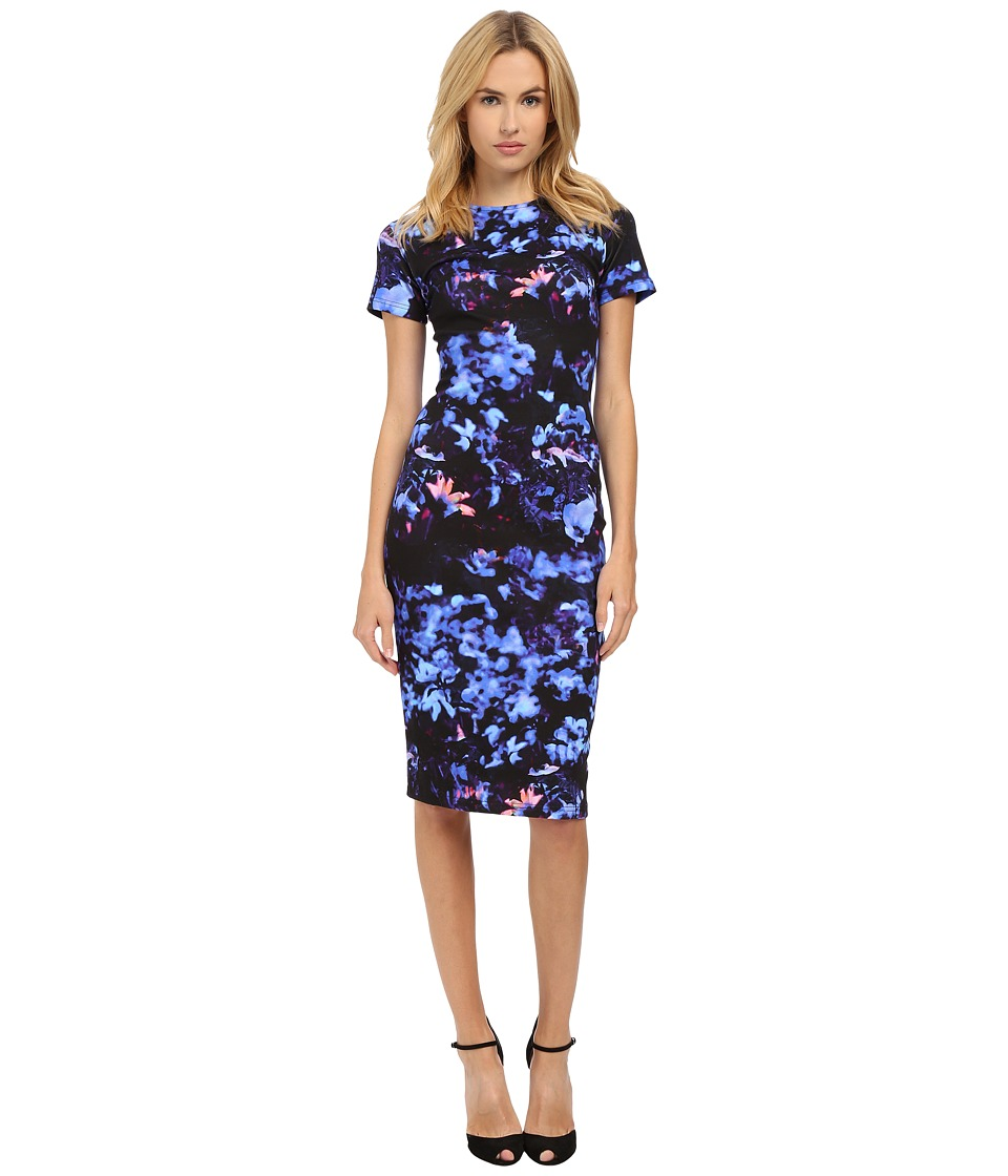 McQ - Long Bodycon Dress (Floral Print) Women's Dress