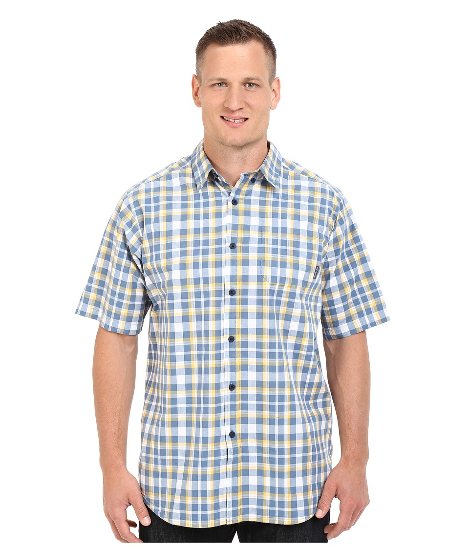 Columbia - Big Tall Rapid Rivers II Short Sleeve Shirt (Amber Square Plaid) Men's Short Sleeve Button Up