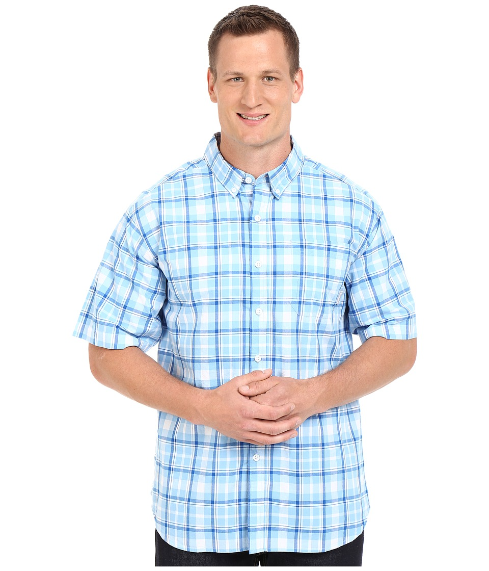 Columbia - Big Tall Rapid Rivers II Short Sleeve Shirt (Blue Sky Plaid) Men's Short Sleeve Button Up