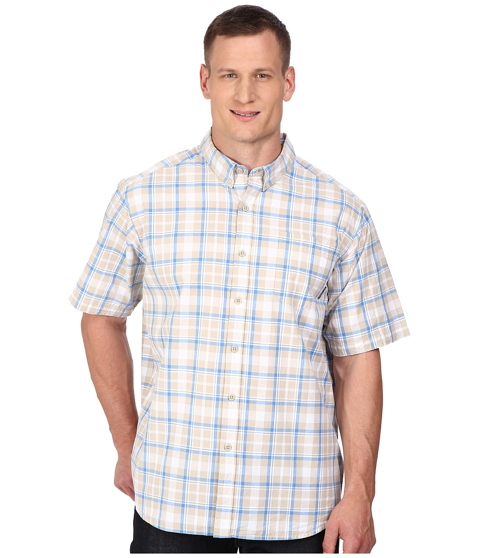 Columbia - Big Tall Rapid Rivers II Short Sleeve Shirt (Fossil Square Plaid) Men's Short Sleeve Button Up