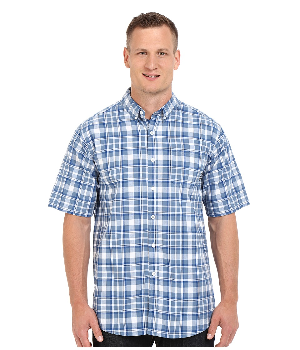 Columbia - Big Tall Rapid Rivers II Short Sleeve Shirt (Marine Blue Square Plaid) Men's Short Sleeve Button Up