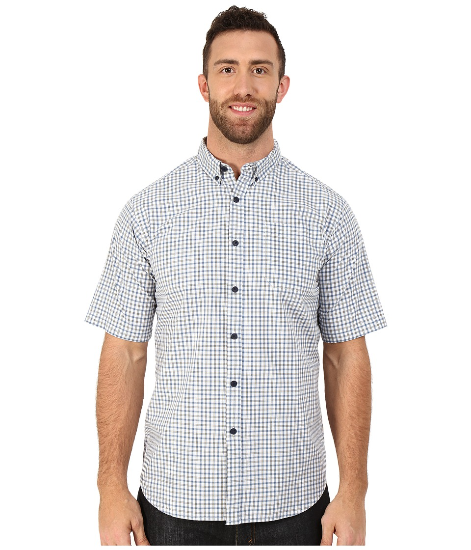Columbia - Big Tall Rapid Rivers II Short Sleeve Shirt (Steel Plaid) Men's Short Sleeve Button Up
