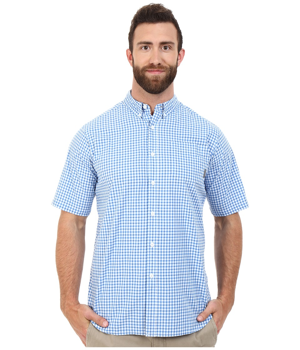 Columbia - Big Tall Rapid Rivers II Short Sleeve Shirt (Super Blue Plaid) Men's Short Sleeve Button Up