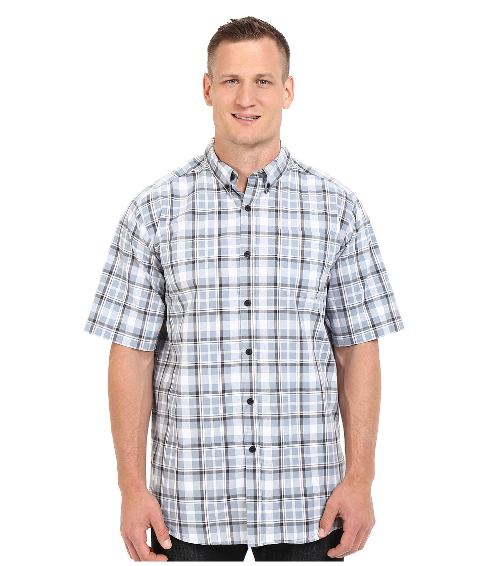 Columbia - Big Tall Rapid Rivers II Short Sleeve Shirt (Tradewinds Grey Square Plaid) Men's Short Sleeve Button Up