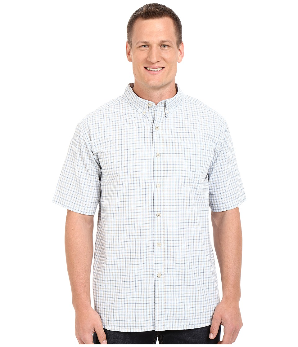 Columbia - Big Tall Rapid Rivers II Short Sleeve Shirt (Tusk Plaid) Men's Short Sleeve Button Up