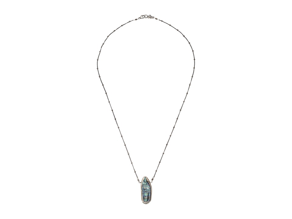 Chan Luu - 20' Blue Peacock Pearl Drop Necklace (Blue) Necklace