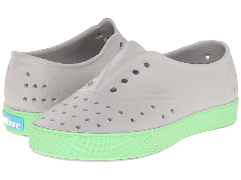 Native Kids Shoes - Miller (Little Kid) (Pigeon Grey/Mescal Green) Kid's Shoes