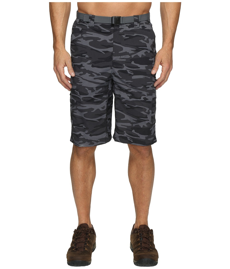 Columbia Silver Ridgetm Printed Cargo Short (Black Camo) Men