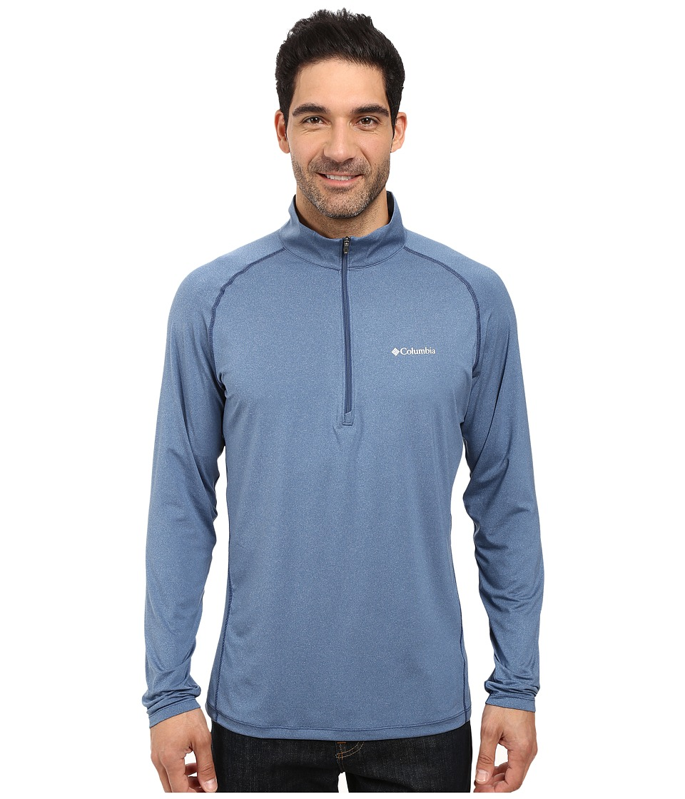 Columbia - Tuk Mountain Half Zip (Night Tide Heather) Men's Long Sleeve Pullover