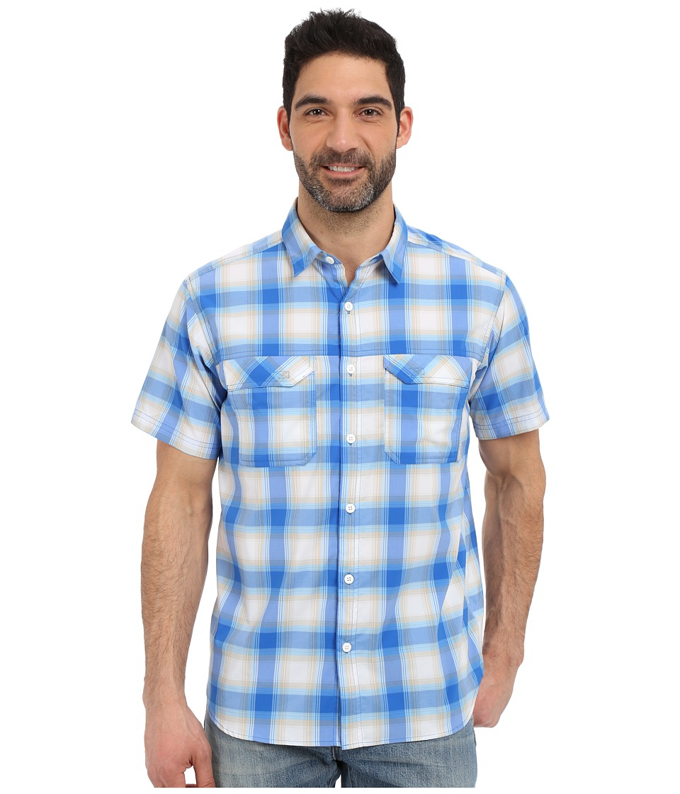 Columbia - Royce Peak II Plaid S/S Shirt (Super Blue Plaid) Men's Short Sleeve Button Up
