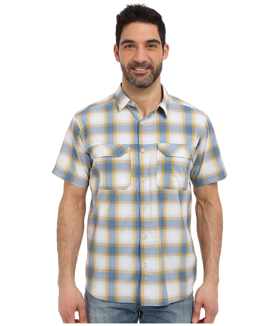 Columbia - Royce Peak II Plaid S/S Shirt (Steel Plaid) Men's Short Sleeve Button Up