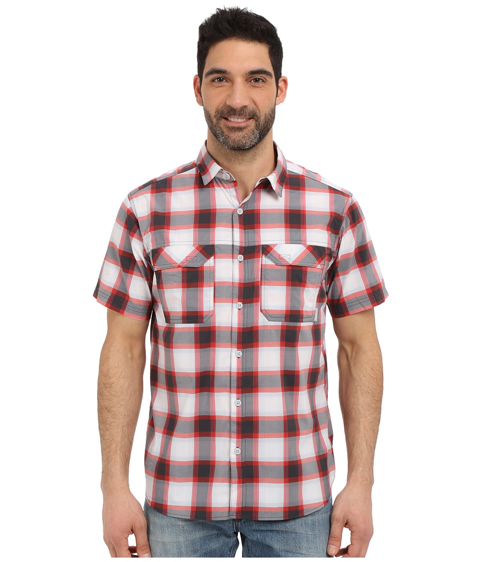 Columbia - Royce Peak II Plaid S/S Shirt (Shark Plaid) Men's Short Sleeve Button Up