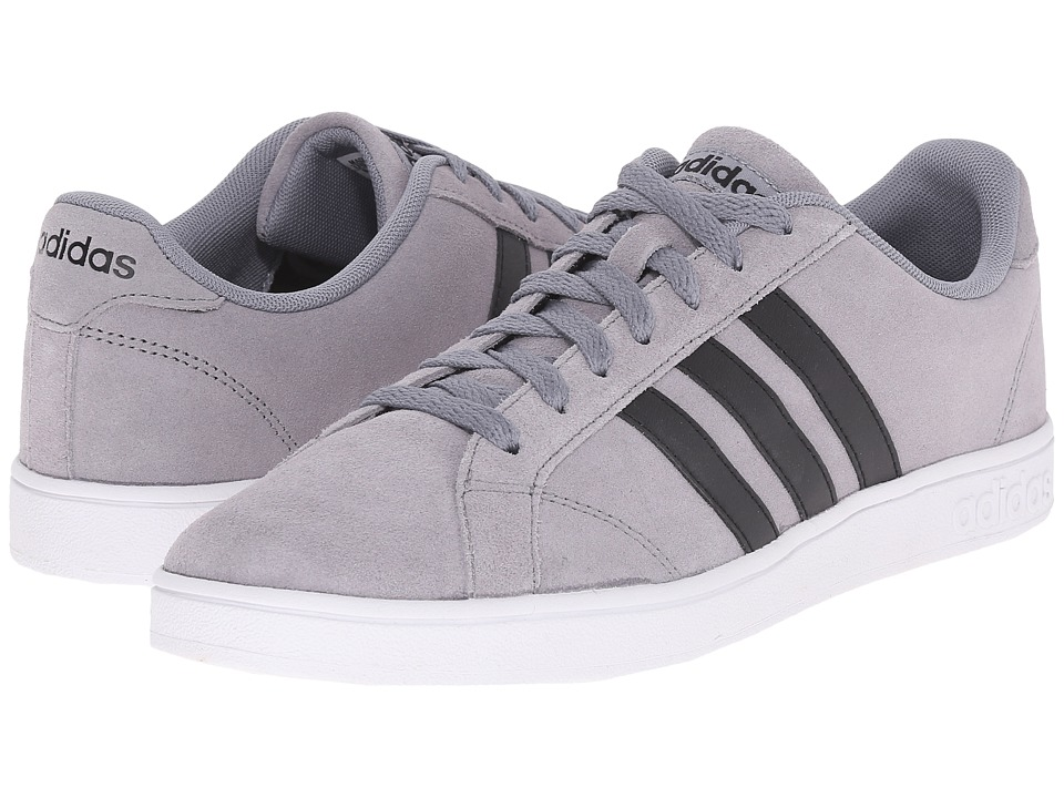 adidas - Baseline (Grey/Black/White) Men's Basketball Shoes