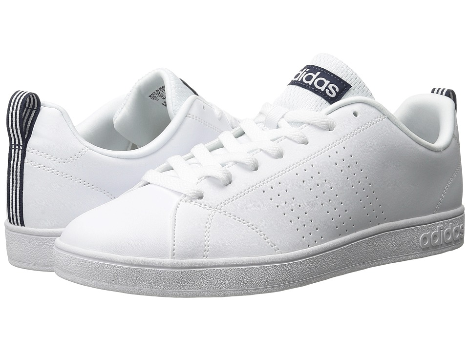 adidas - Advantage (White/Collegiate Navy) Men's Basketball Shoes