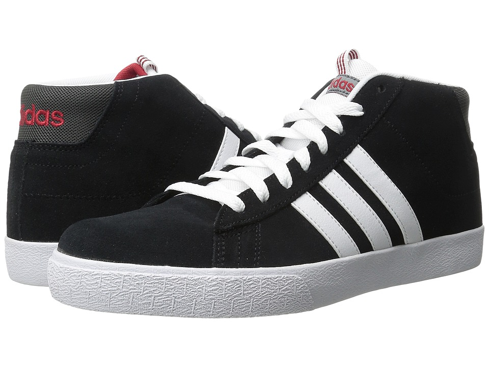 adidas - Daily St Mid (Core Black/White/Power Red) Men's Skate Shoes