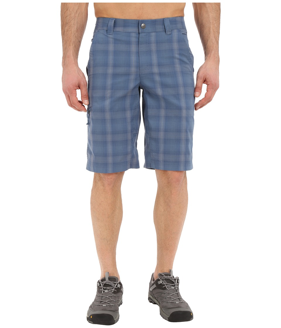 Columbia - Cool Creek Stretch Plaid Short (Steel Plaid) Men's Shorts