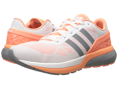 adidas - Cloudfoam Flow (White/Grey/Sun Glow) Women's Running Shoes
