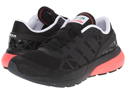 adidas - Cloudfoam Flow (Core Black/Core Black/Flash Red) Women