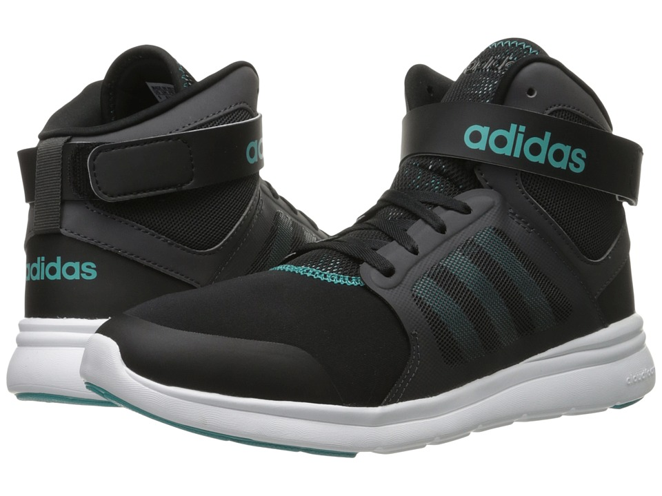 adidas - Cloudfoam Xpression Mid (Core Black/Shock Green/DGH Solid Grey) Women's Basketball Shoes