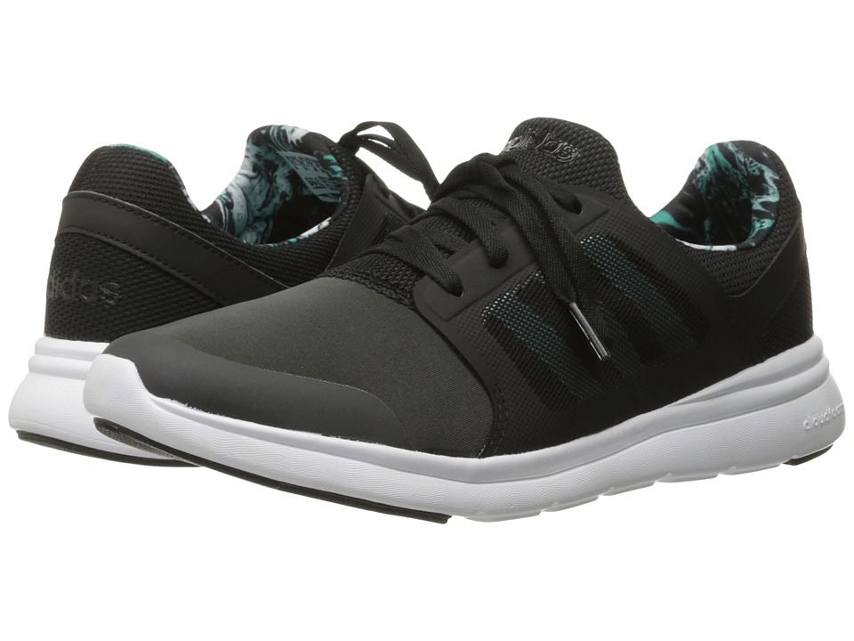 adidas - Cloudfoam Xpression (DGH Solid Grey/Shock Green/Core Black) Women's Running Shoes