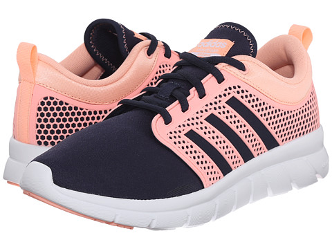 adidas - Cloudfoam Groove (Collegiate Navy/Light Flash Orange/White) Women's Running Shoes