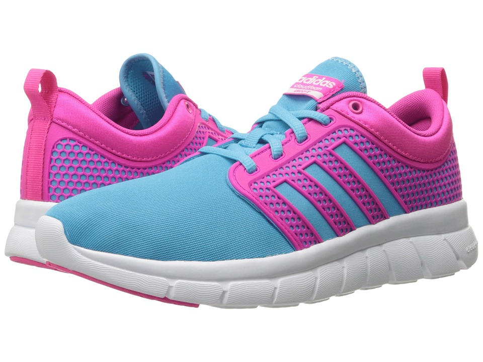 adidas - Cloudfoam Groove (Bright Cyan/Shock Pink/White) Women's Running Shoes