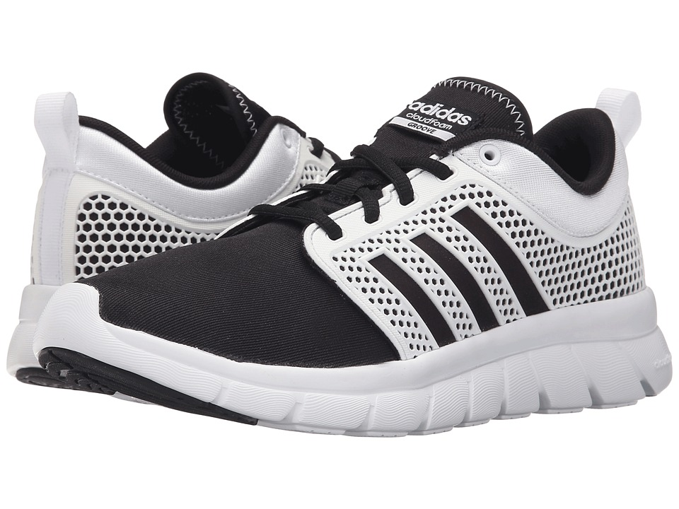 adidas - Cloudfoam Groove (Core Black/White/White) Women's Running Shoes