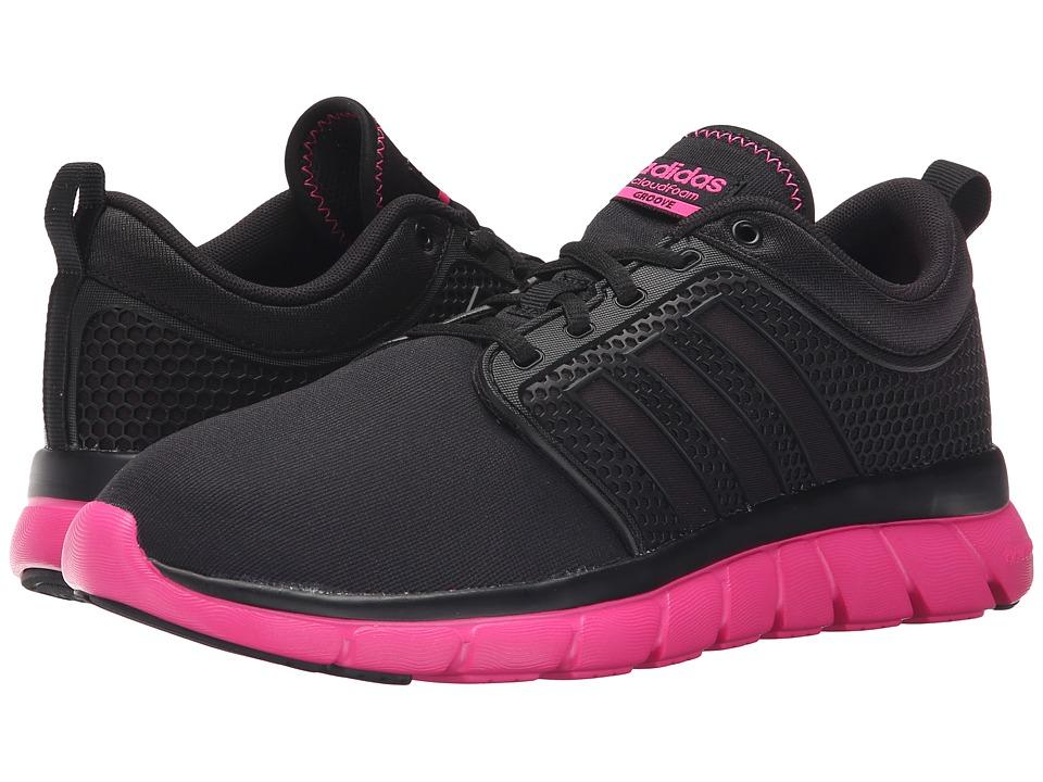 adidas - Cloudfoam Groove (Core Black/Core Black/Shock Pink) Women