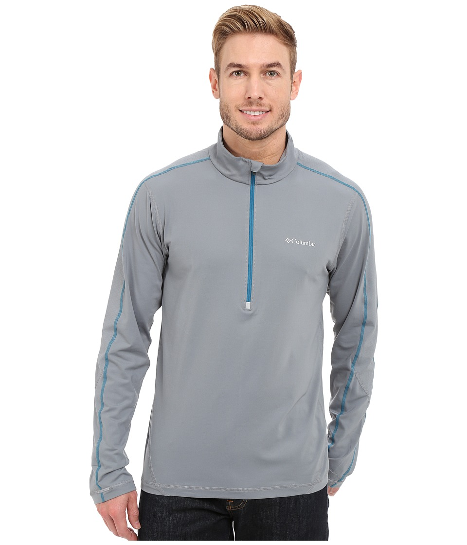 Columbia - Trail Flash Half Zip (Grey Ash) Men's Long Sleeve Pullover