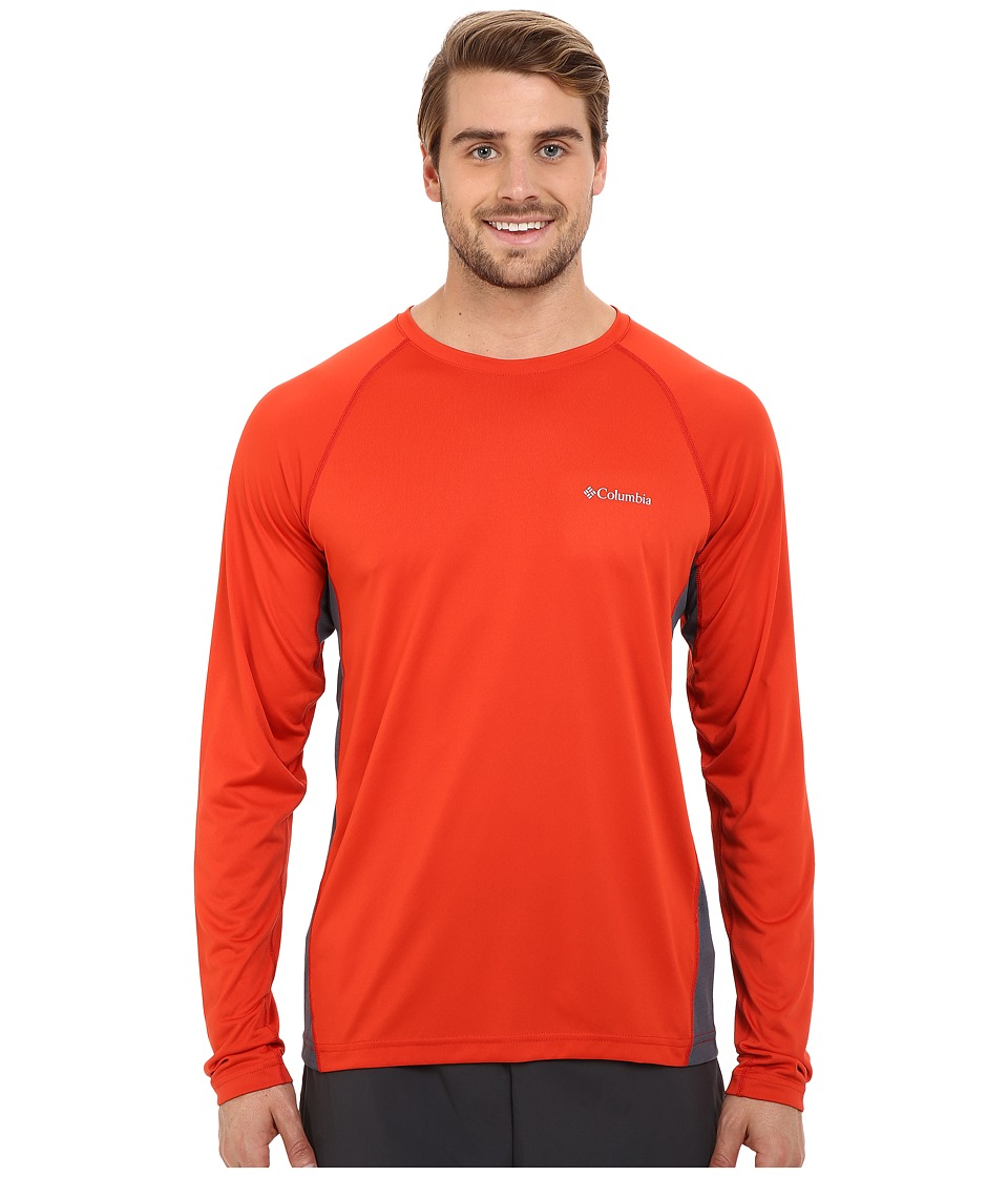 Columbia Chiller Long Sleeve Shirt (Super Sonic/Graphite) Men