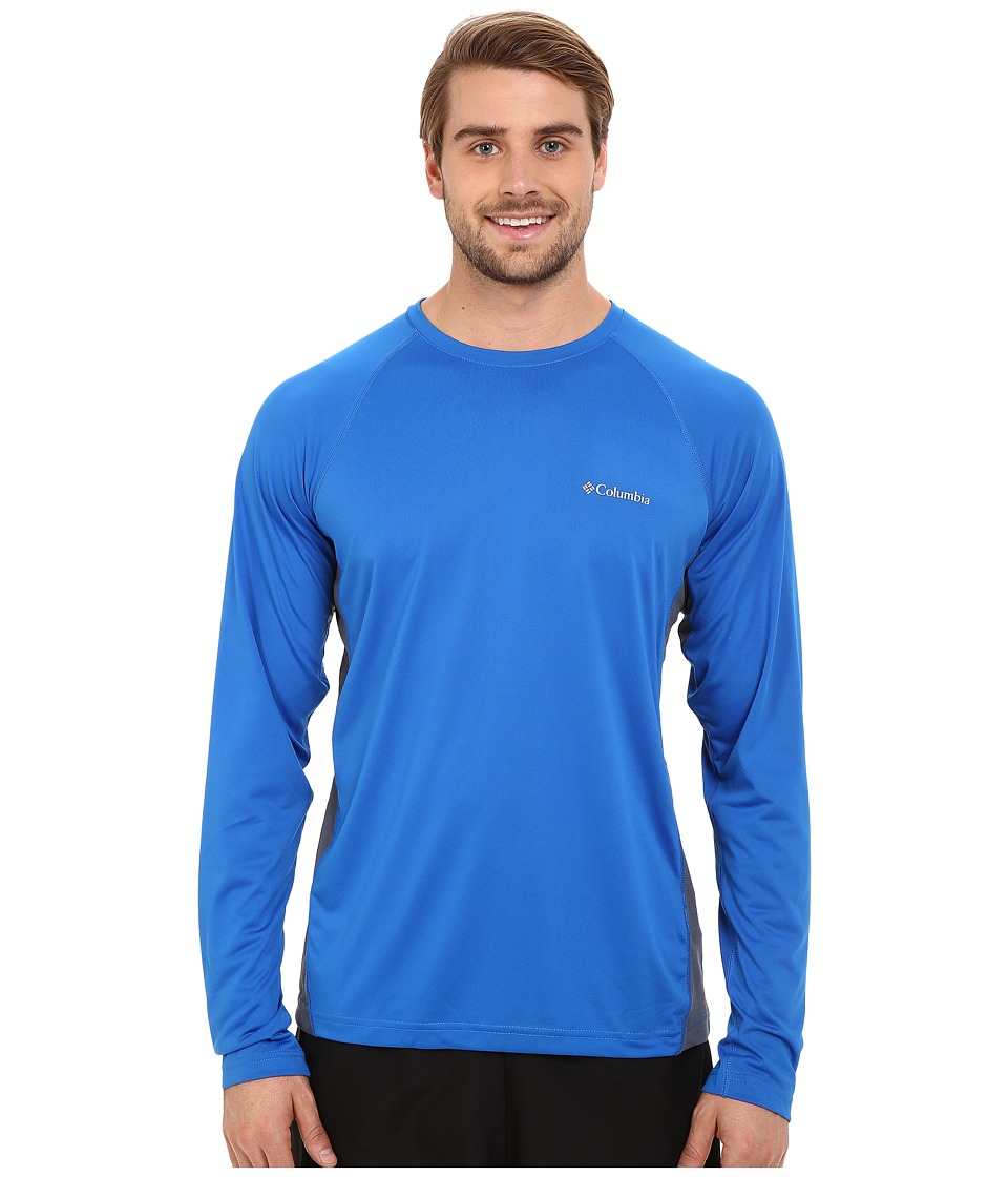 Columbia - Chiller Long Sleeve Shirt (Super Blue/Graphite) Men's Long Sleeve Pullover