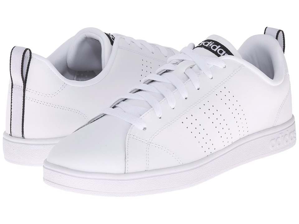 adidas - Advantage Clean VL (White/White/Black) Women's Lace up casual Shoes