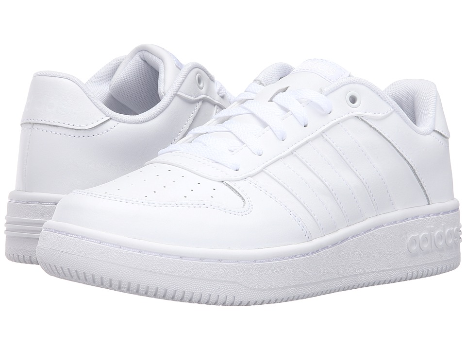 adidas - Team Court (White/White/Matte Silver) Women's Lace up casual Shoes