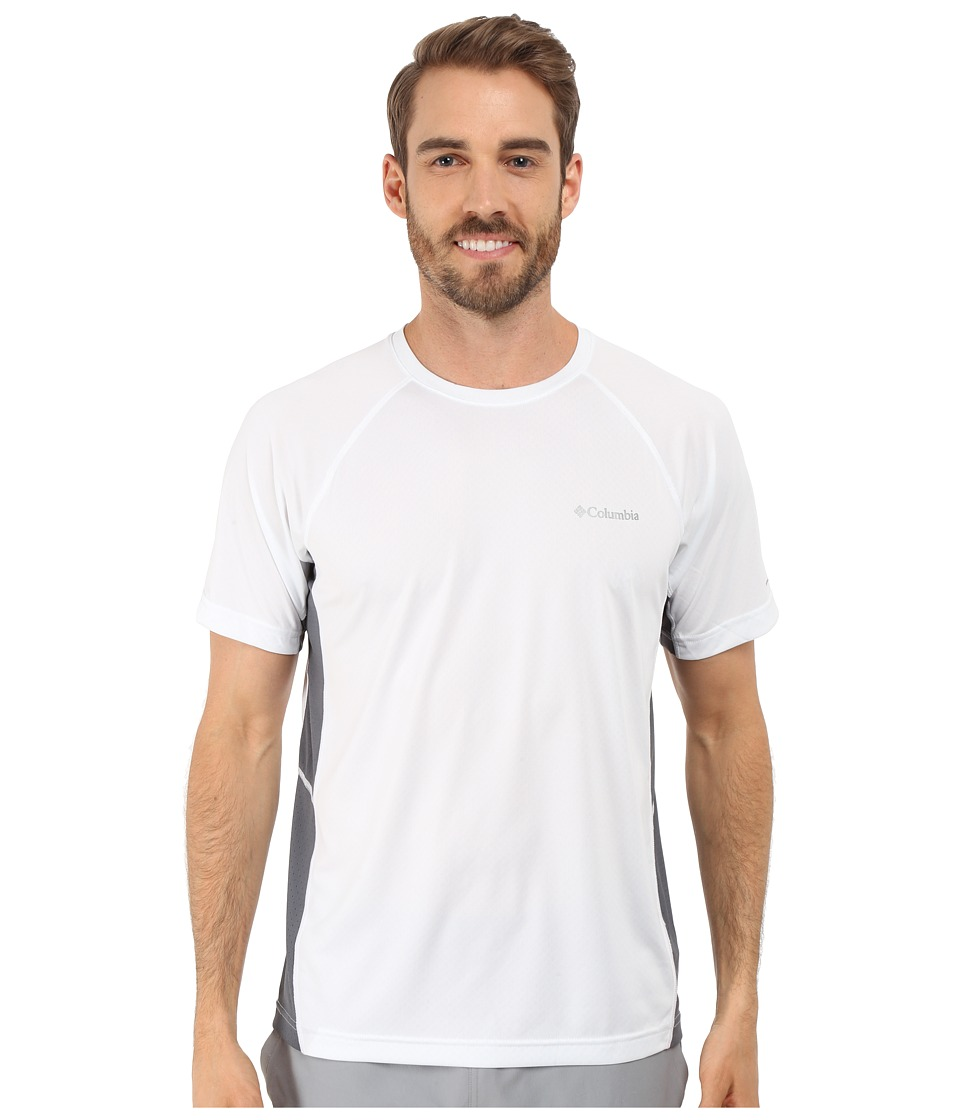 Columbia - Chiller Short Sleeve Shirt (White) Men's T Shirt