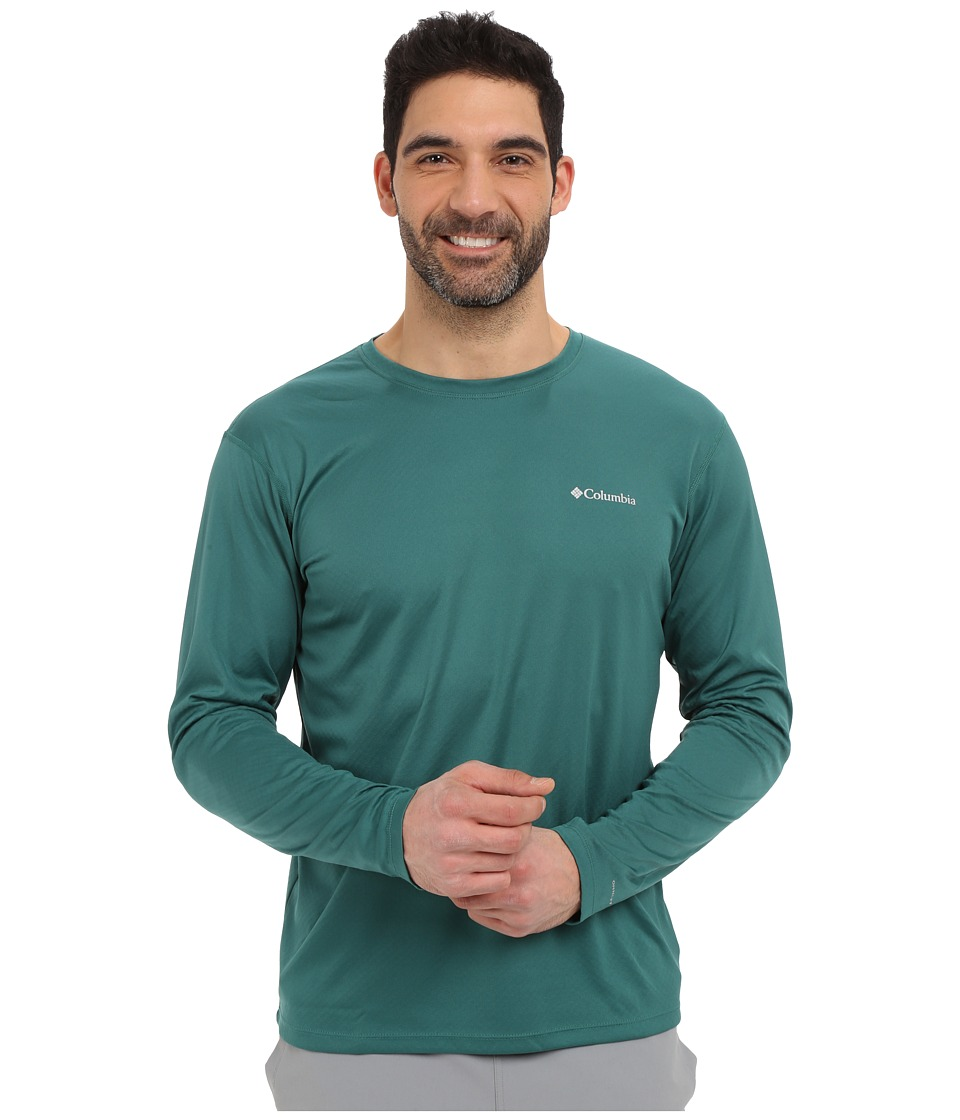 Columbia - Zero Rules L/S Shirt (Pine Green) Men's Long Sleeve Pullover