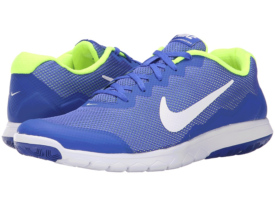 Nike - Flex Experience Run 4 (Racer Blue/Volt/White/White) Men's Running Shoes