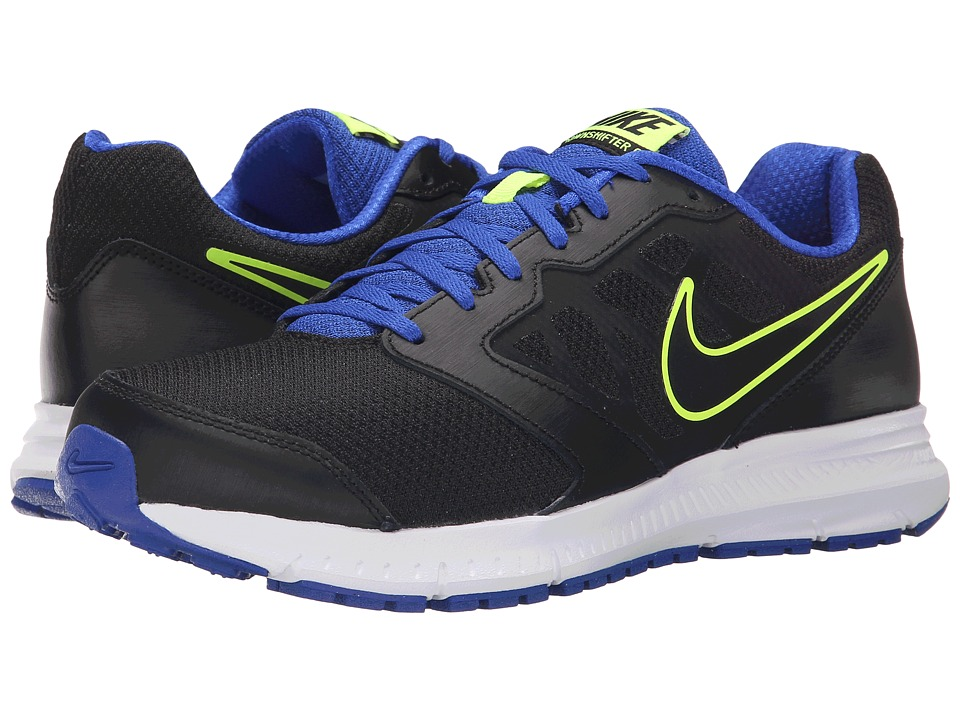 Nike - Downshifter 6 (Black/Racer Blue/Volt/Black) Men's Running Shoes