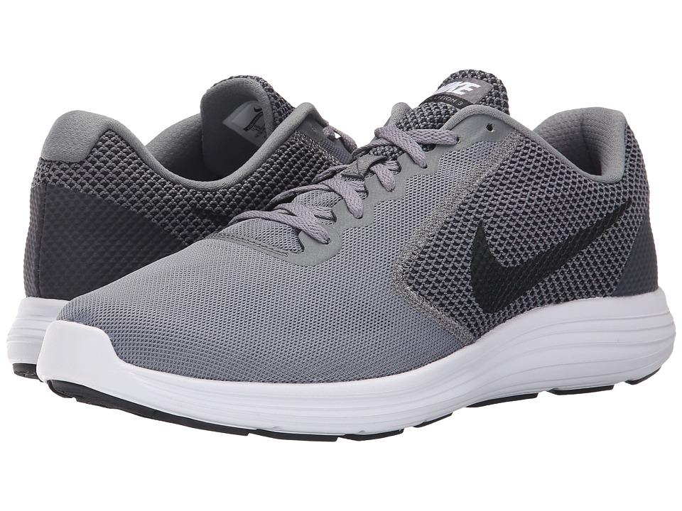 Nike - Revolution 3 (Cool Grey/White/Black) Men's Running Shoes